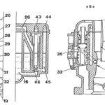 Carburetor of Fiat 500 engine - technical diagram 2