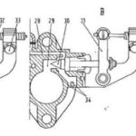 Carburetor of Fiat 500 engine - technical diagram 2