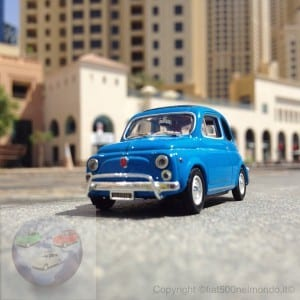 Fiat500 in Jumeirah (Dubai)