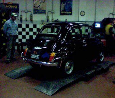 Fiat 500 dal gommista