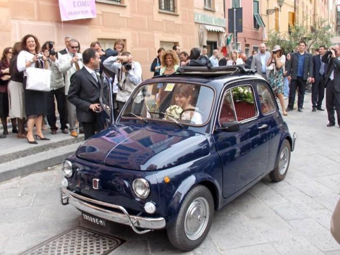 Una bellissima Fiat 500 al nostro matrimonio