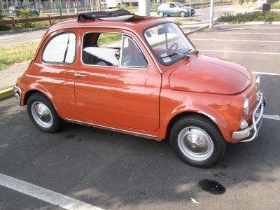 La Fiat 500 di micio