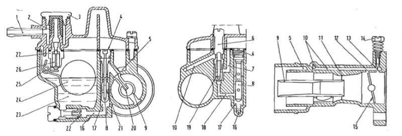 The Carburetor Of Fiat 500 Engine  Mixture  Air  Starter