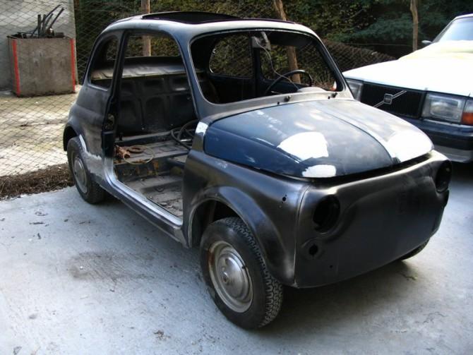 Il restauro (seconda parte) – La carrozzeria della Fiat 500
