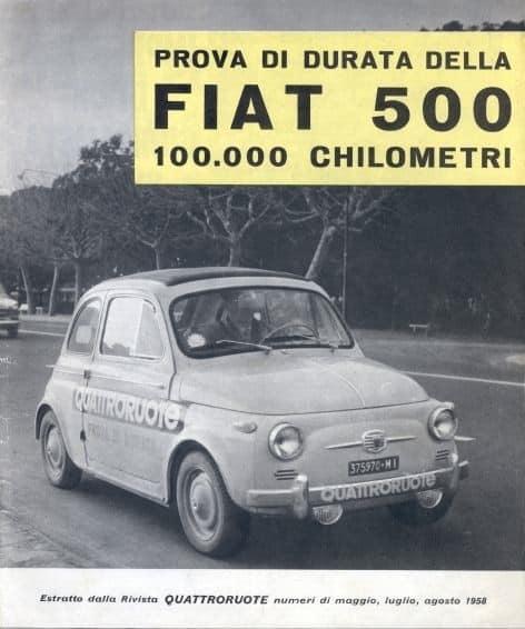 1958 – La prova di quattroruote, 100.000 Km senza intoppi!!