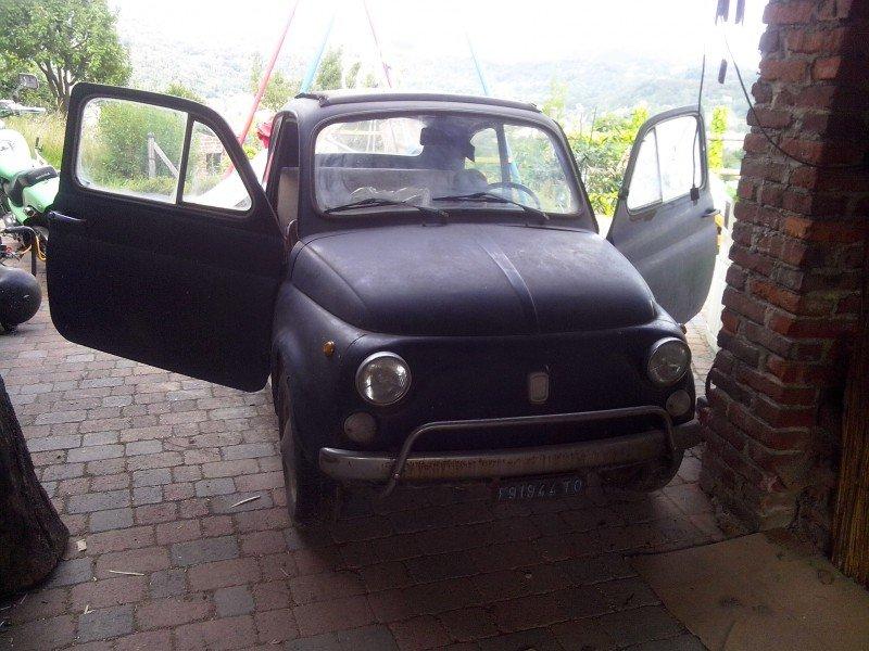 La Fiat 500 spider-papillo