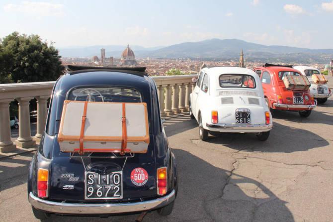 My500instatour: In giro per le colline senesi a bordo di Fiat 500 d'epoca