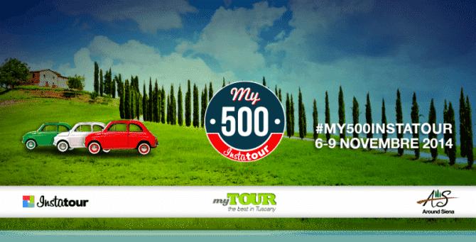Instatour – Un weekend in giro tra Siena, il Chianti e le Crete senesi a bordo di tre Fiat 500 d'epoca.