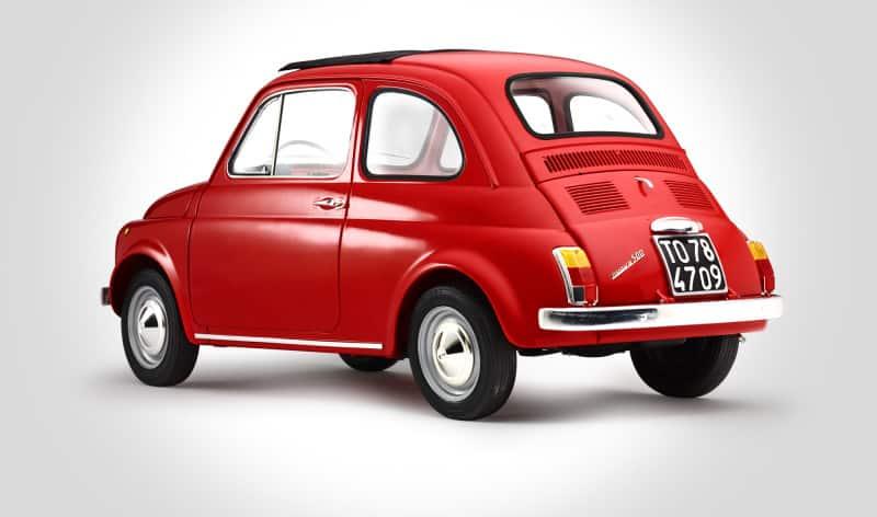 Modello Della Fiat 500 Posteriore Fiat 500 Nel Mondo