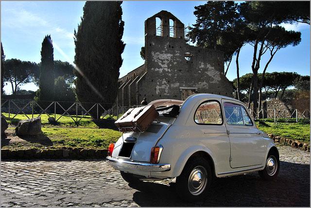 In giro per Roma con la Fiat 500!
