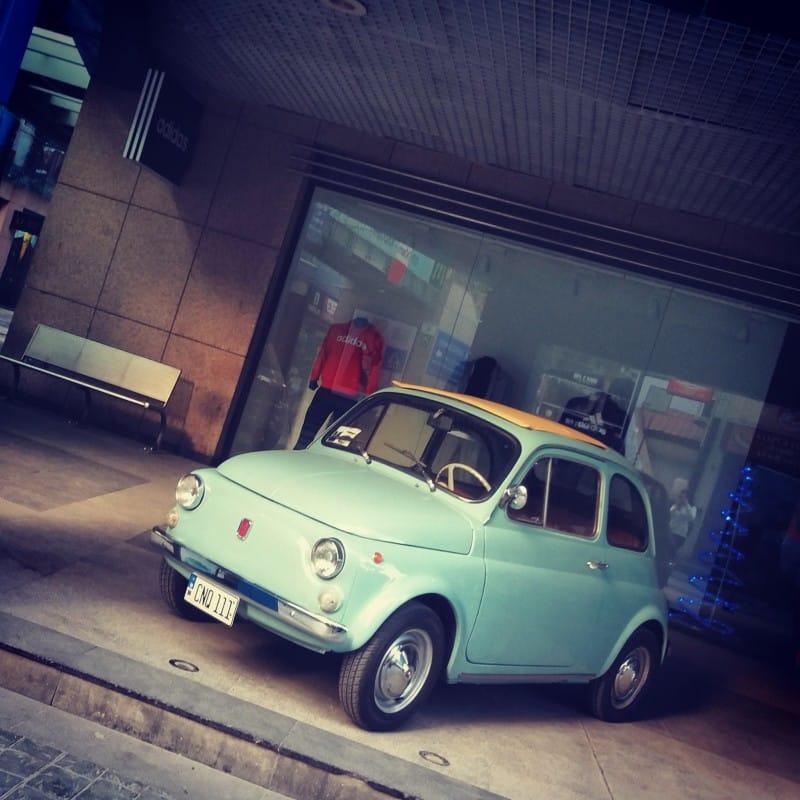 La Fiat 500 di maxine