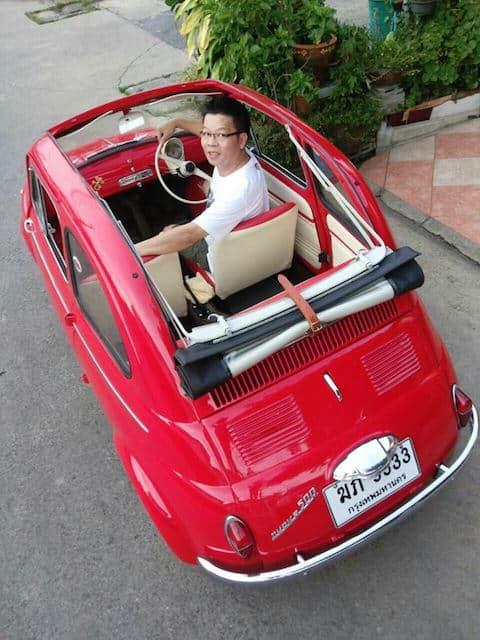 Dalla Thailandia con furore: La Fiat 500 di Vichan Chalongvorachai