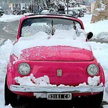 Nevica? Nessun problema per le nostre Fiat 500 – Catene da neve a 44 Euro!