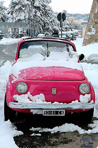 Nevica? Nessun problema per le nostre Fiat 500 – Catene da neve a 29 Euro!