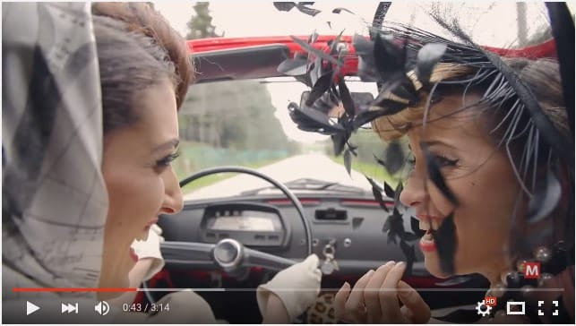 "Carlotta De Lellis in ""Fiat 500"" Official Video"
