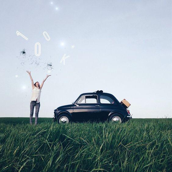 Una Fiat 500 e Martina Bisaz – Il successo su Instagram