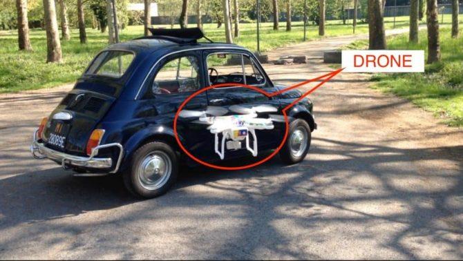 Avete mai visto una vecchia fiat 500 da un Drone?