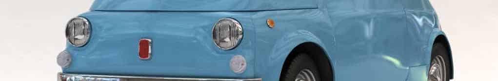Azzurra – Una fiat 500 d'epoca in tutti i suoi dettagli