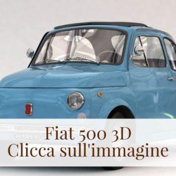 Azzurra: la Fiat 500 3D fatta da voi!