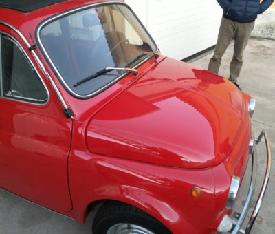 1970 fully restored Fiat 500 L selling abroad Italy