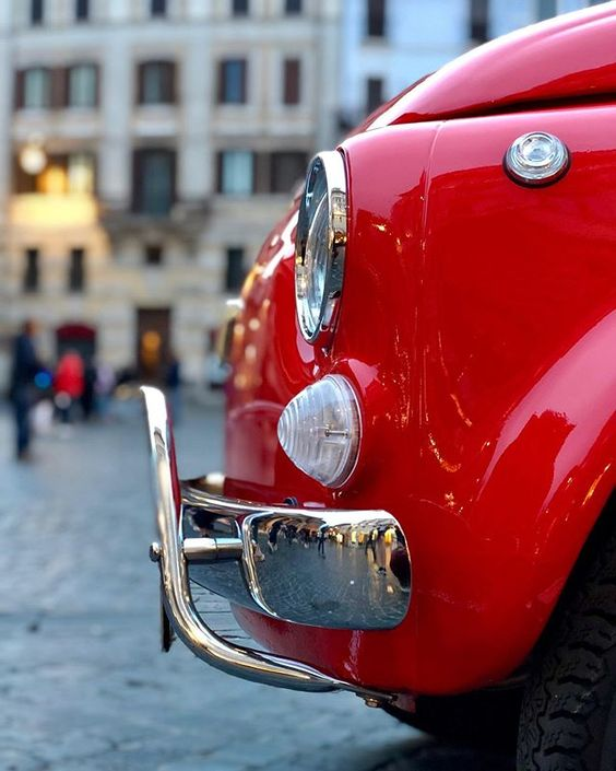 I paraurti della Fiat 500 (anteriore e posteriore)