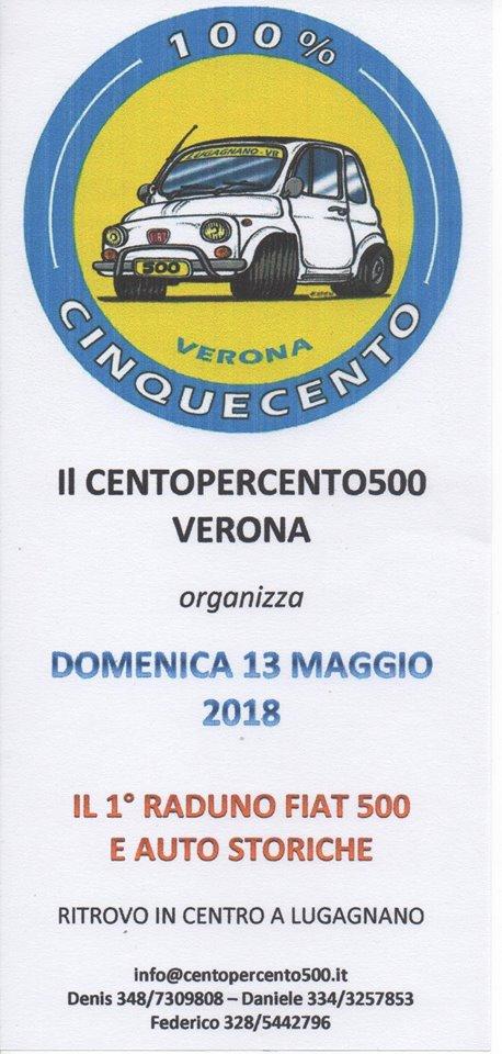 1° Raduno Fiat 500 e auto storiche – Lugagnano di Sona (VR)