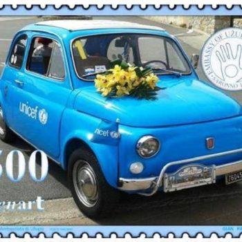Un (tuo) francobollo per AZZURRA – Fiat 500 Power!