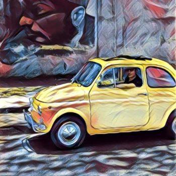 La Fiat 500 di Vincent Vega