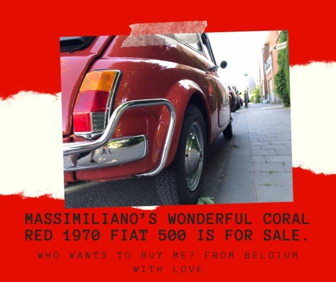 La stupenda Fiat 500 Rosso Corallo di Massimiliano è in vendita!