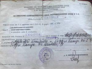 Fiat 500 massimilano belgio documenti
