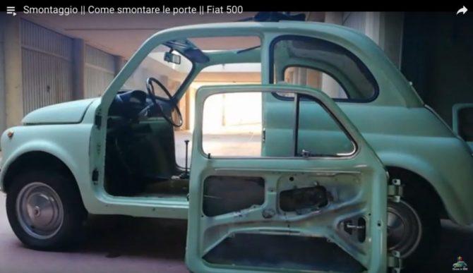 Donne in 500: smontare le portiere della Fiat 500 d'epoca