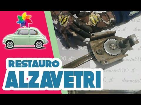 Donne in 500: Restauro del meccanismo alzavetro della Fiat 500 L d'epoca