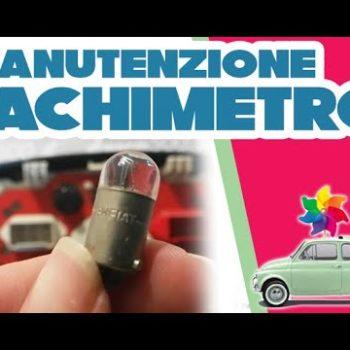 Tachimetro della Fiat 500 d'epoca: revisione e sostituzione delle lampadine