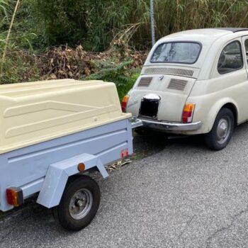 La Fiat 500 di Matteo (e il rimorchio) è in vendita: chi la vuole?